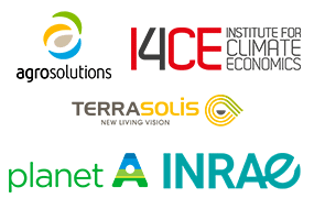 agrosolutions i4ce terrasolis planet A INRAE logos